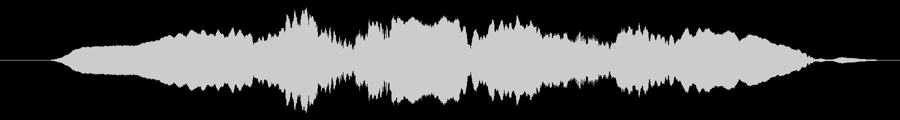 オカリナトロンボーンのグリッサンドの未再生の波形