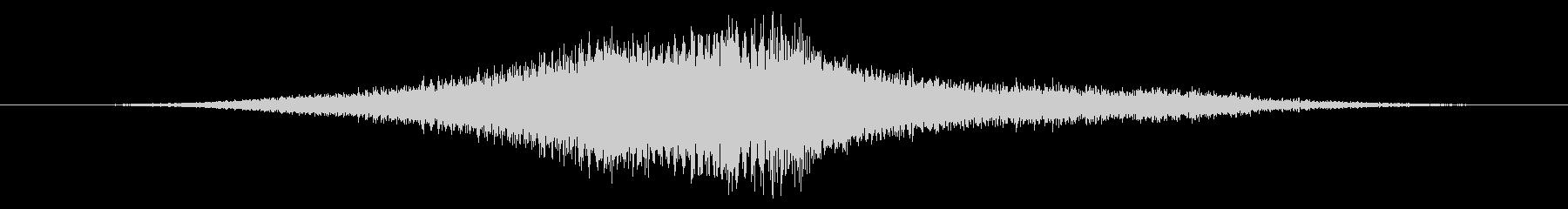着信メタリックスペースバーストインパクトの未再生の波形