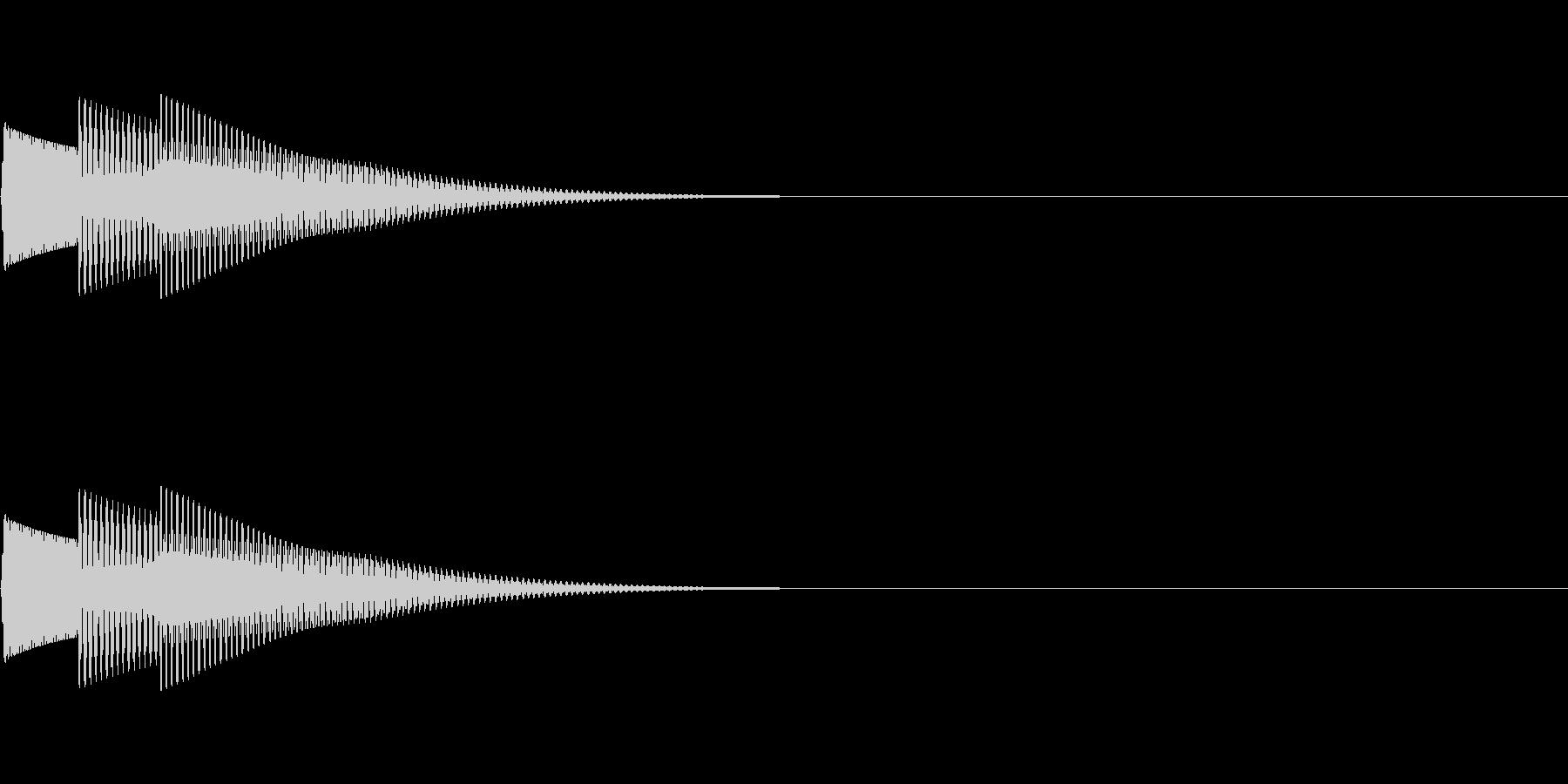 ピコーン(ワンポイント_アルペジオ)の未再生の波形