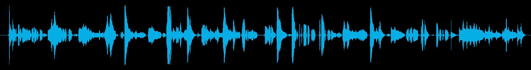 ハミング・ア・チューン、マン、ヒト...の再生済みの波形