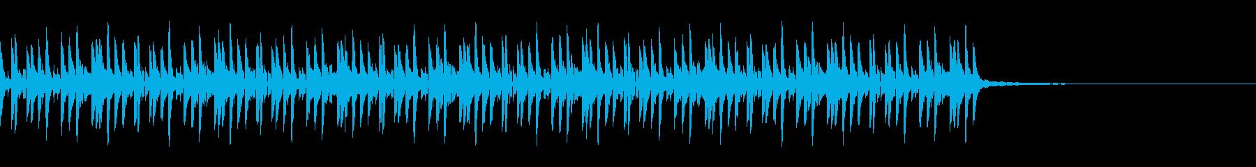 ミドルテンポのドラムシンセビートループの再生済みの波形