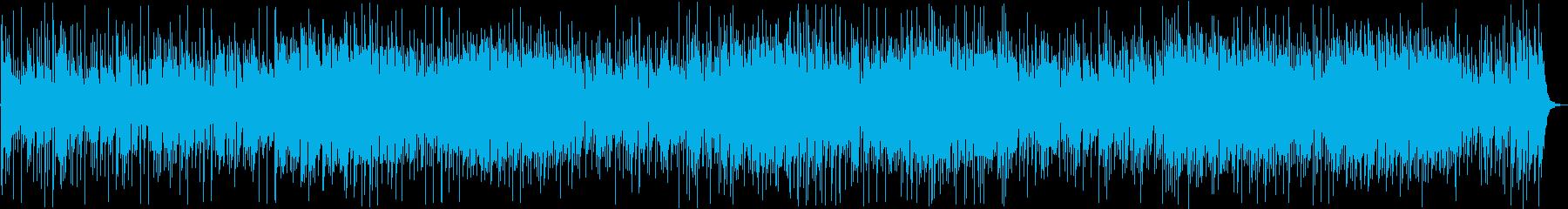 明るい印象のギター・シンセなどのサウンドの再生済みの波形