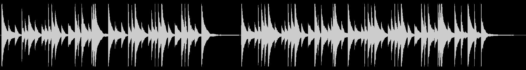悲しいピアノの旋律が印象的なバラードの未再生の波形