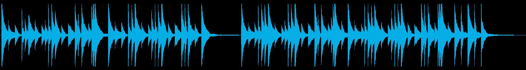 悲しいピアノの旋律が印象的なバラードの再生済みの波形