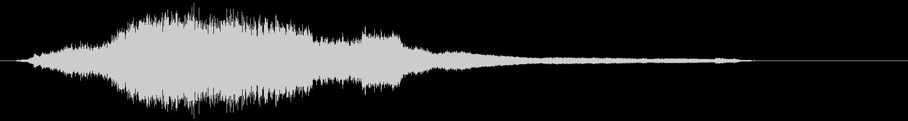 【ホラー】ベルが響き渡るダークな空間の未再生の波形