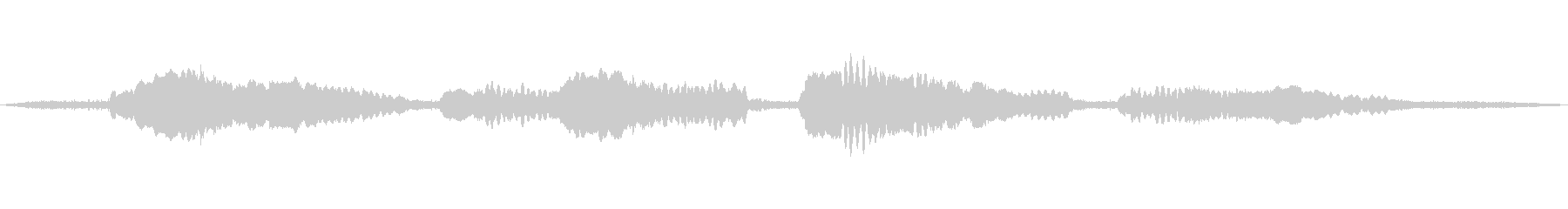 民族楽器と川の流れを融合させたBGMの未再生の波形