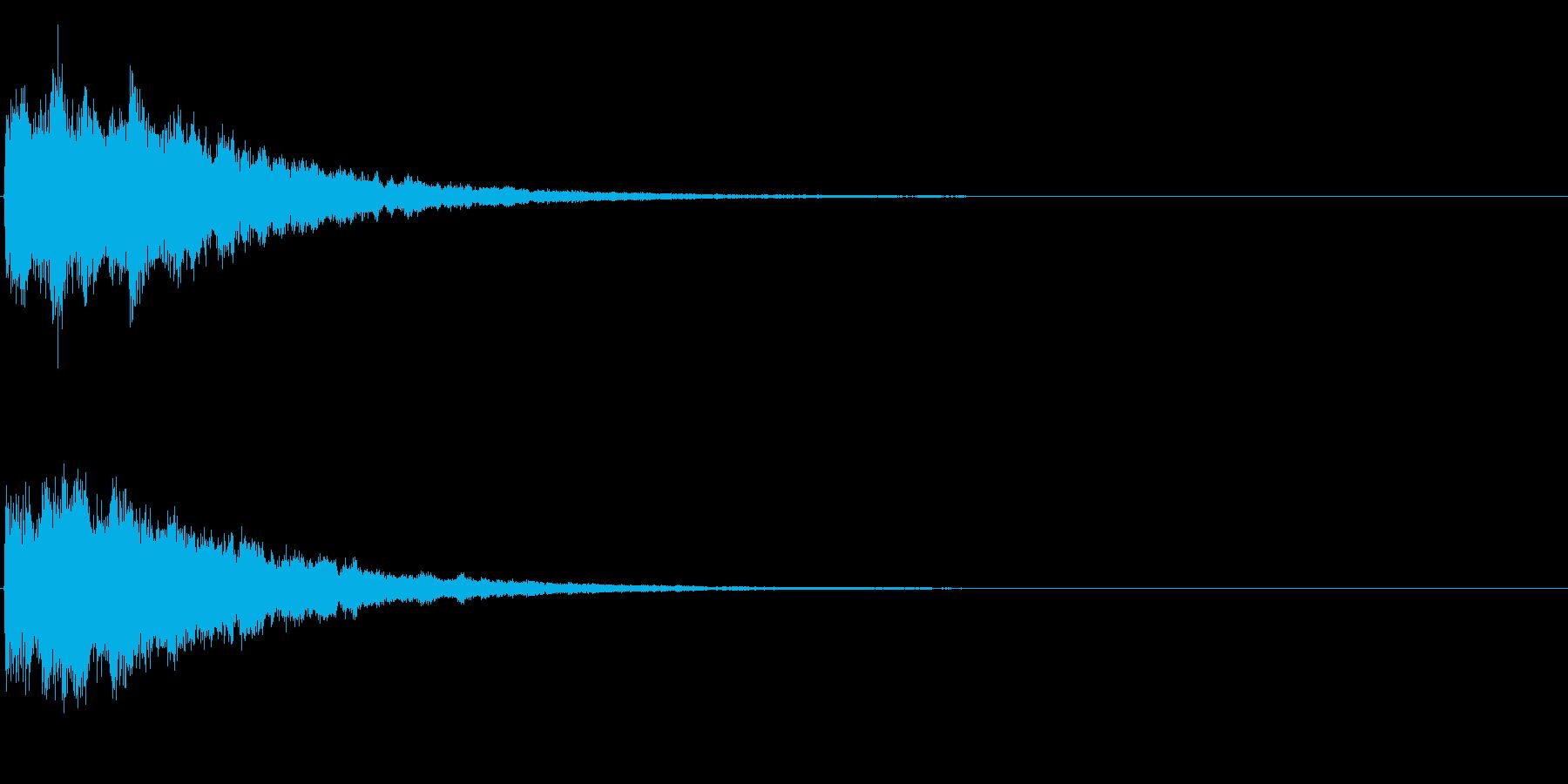 ゲームスタート、決定、ボタン音-144の再生済みの波形