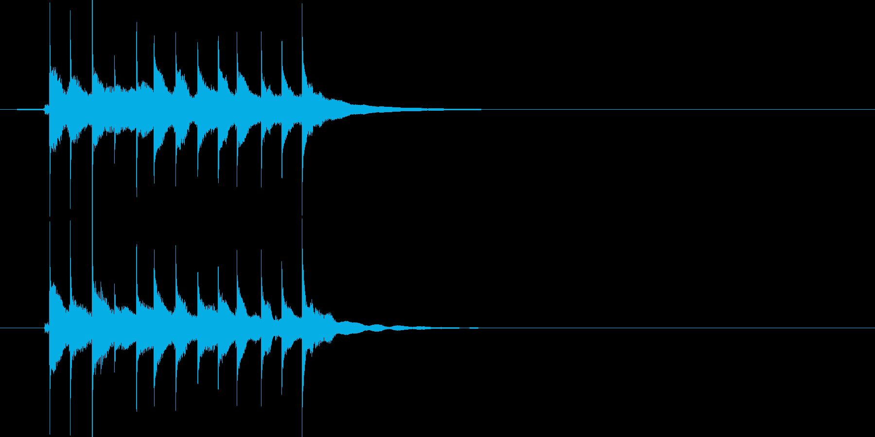 お知らせ ベル11の再生済みの波形