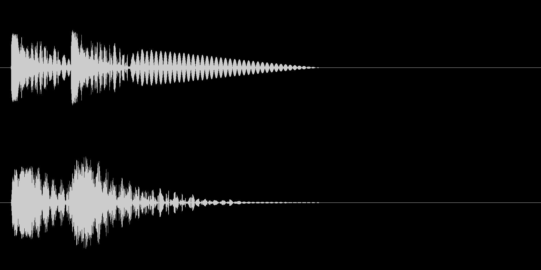 ビュビュン 射撃音 (ゲームっぽい音) の未再生の波形
