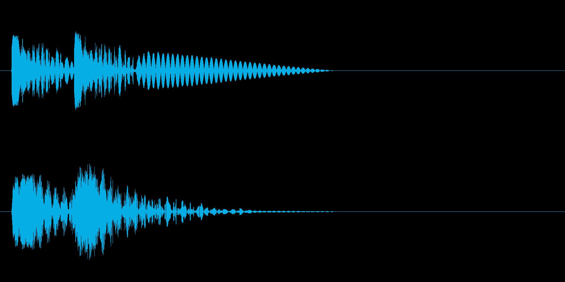 ビュビュン 射撃音 (ゲームっぽい音) の再生済みの波形