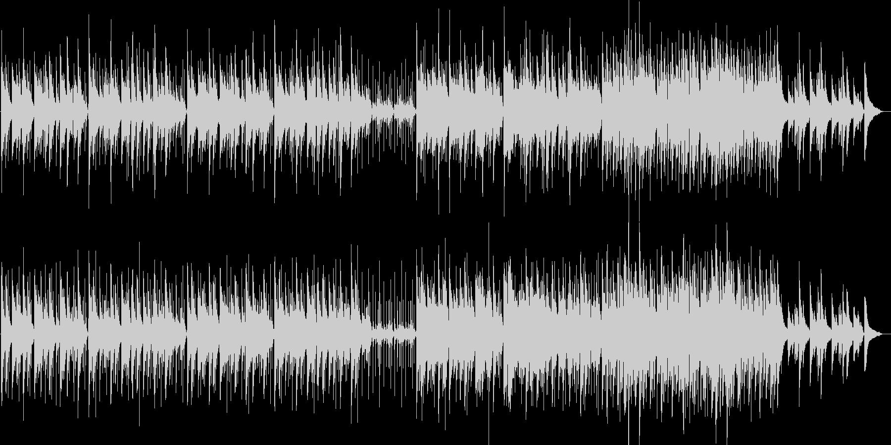 ピアノとパーカッションの未再生の波形