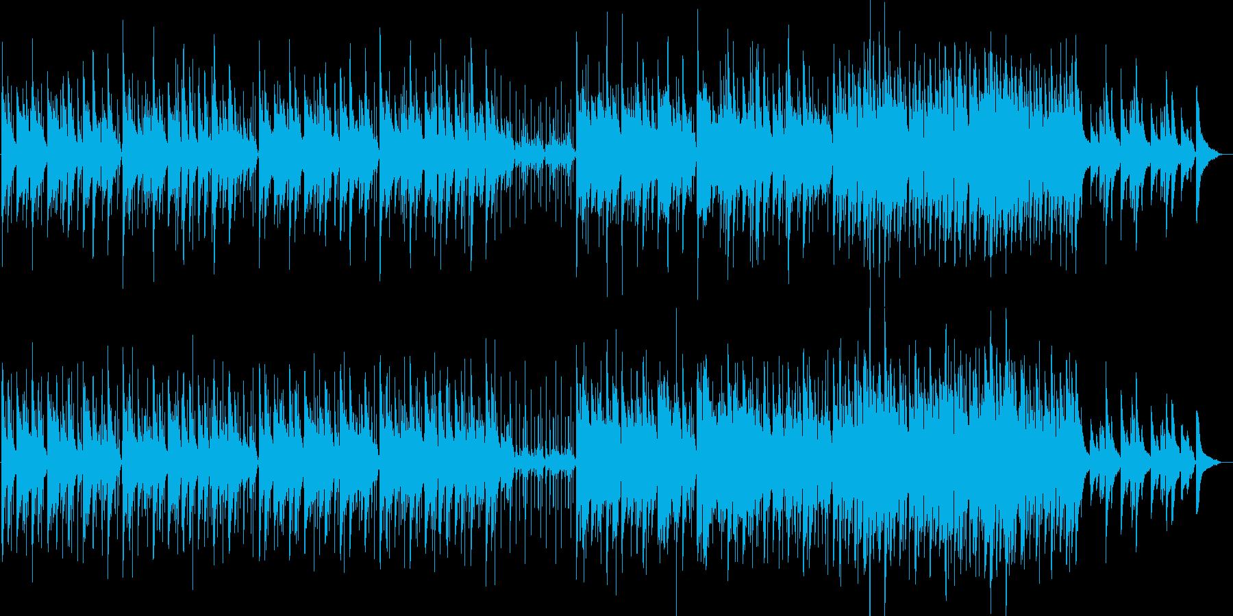 ピアノとパーカッションの再生済みの波形