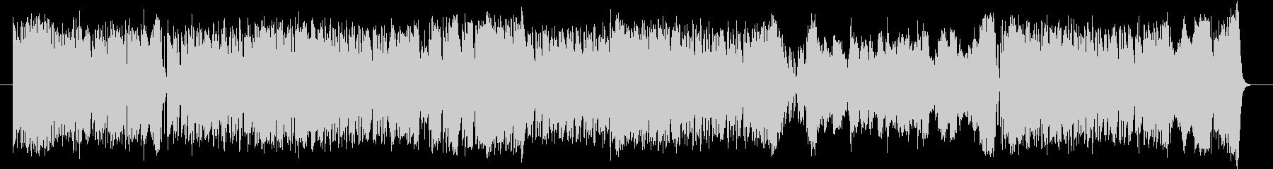 ミディアムテンポの4ビート楽曲と行進曲…の未再生の波形