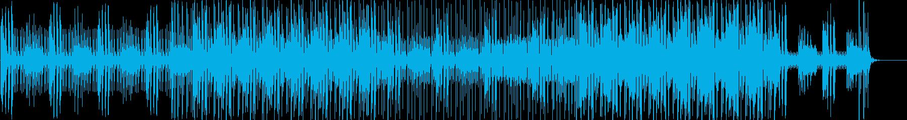 おしゃれなポップの曲の再生済みの波形