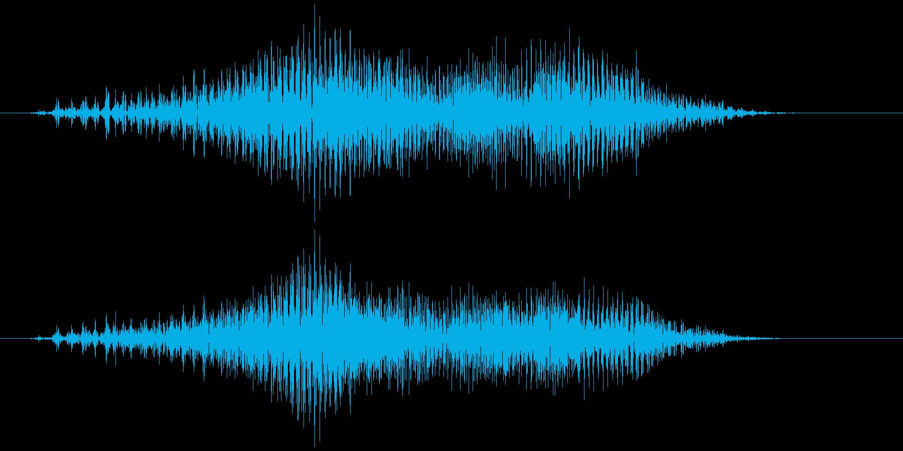 チャック、ジッパー(開閉音) ジゥッの再生済みの波形