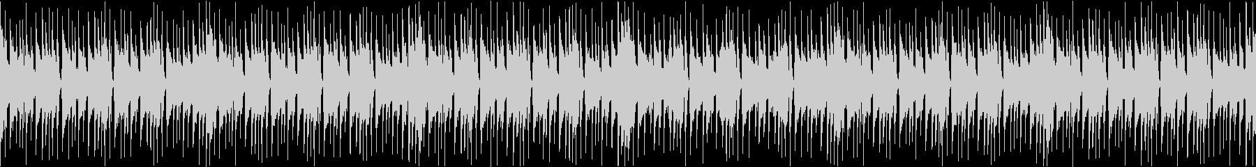 休暇をイメージしたピアノBGMループ版の未再生の波形