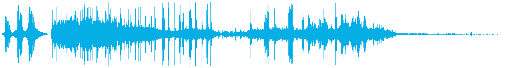 心も身体も癒されるリラクゼーション音の再生済みの波形