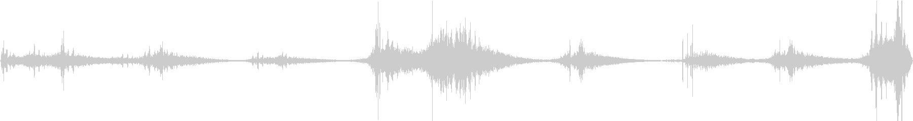 重力がゆっくり、遠く、持続する振動の未再生の波形