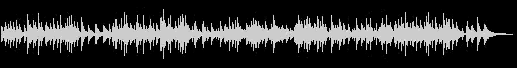 ゆっくりなジャズラウンジピアノソロの未再生の波形