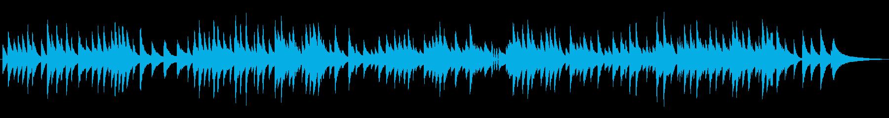 ゆっくりなジャズラウンジピアノソロの再生済みの波形