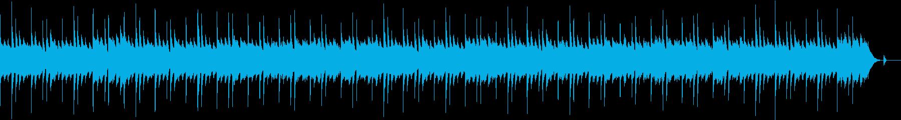 穏やかで抑制的なピアノ・アルペジオの再生済みの波形