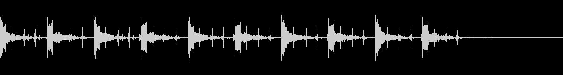 カウント10秒 ピッピ+秒針の未再生の波形