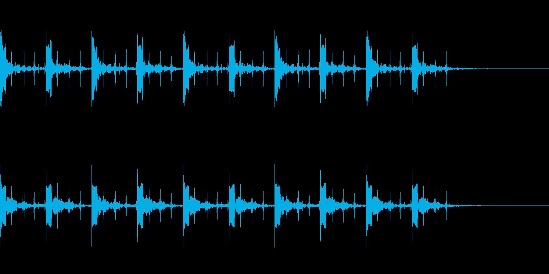 カウント10秒 ピッピ+秒針の再生済みの波形