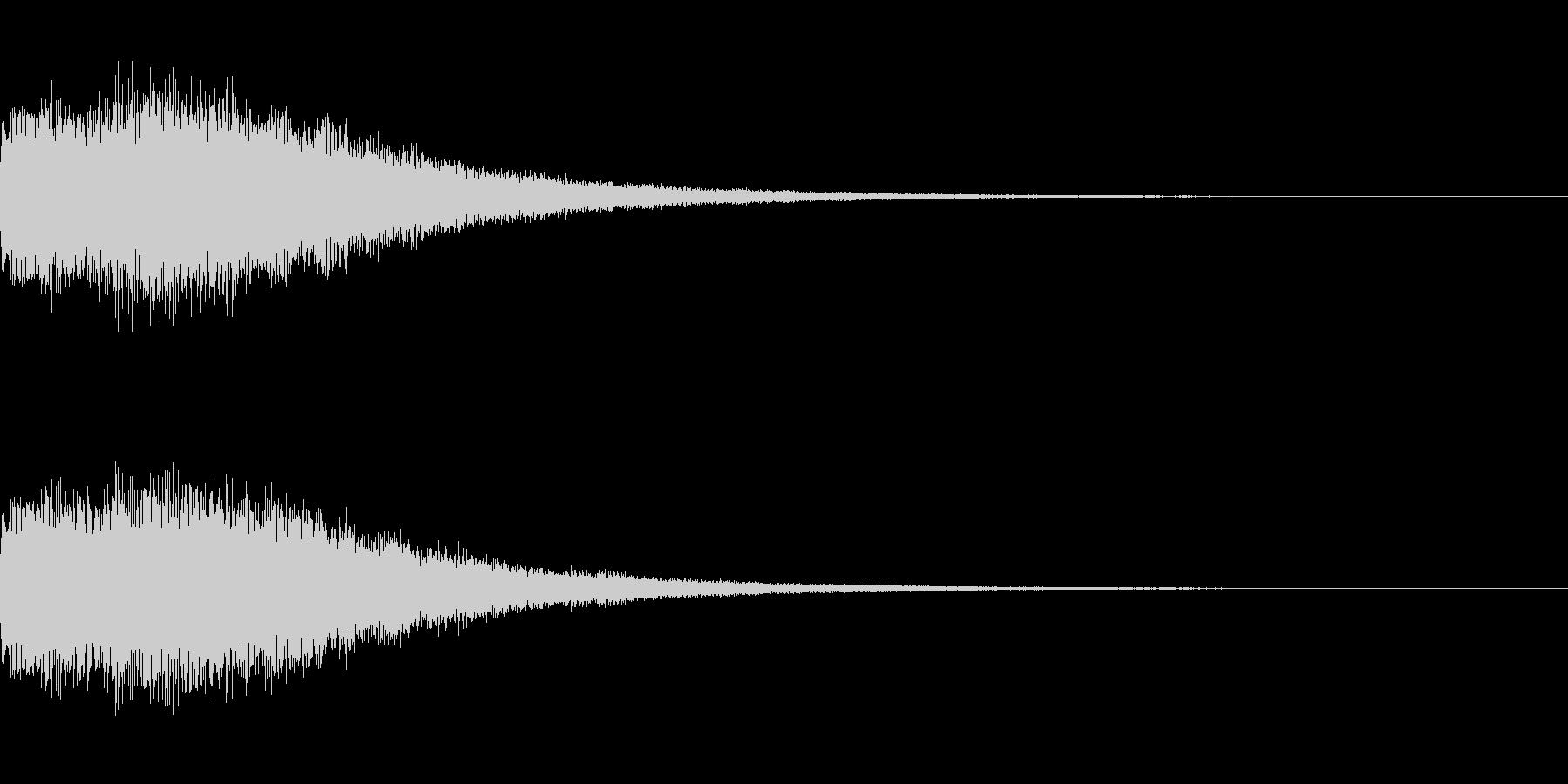シンセサイザー 決定/スタート音3の未再生の波形