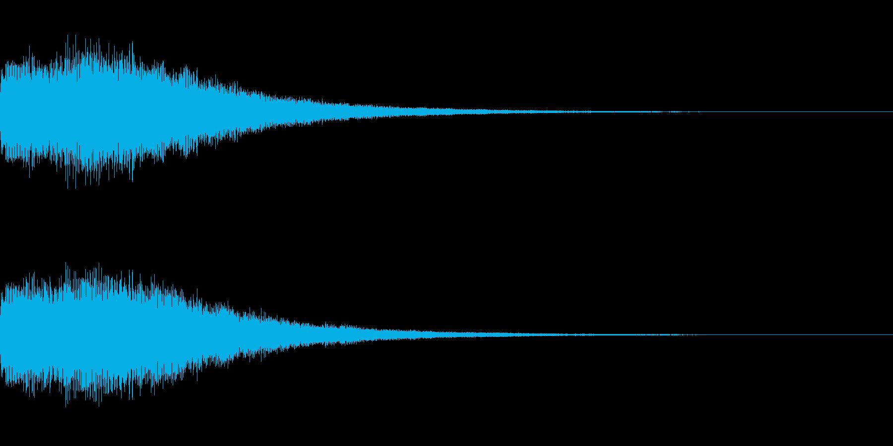 シンセサイザー 決定/スタート音3の再生済みの波形