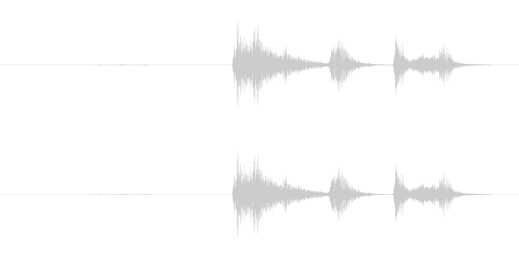 鳴き声 咳の女性01の未再生の波形