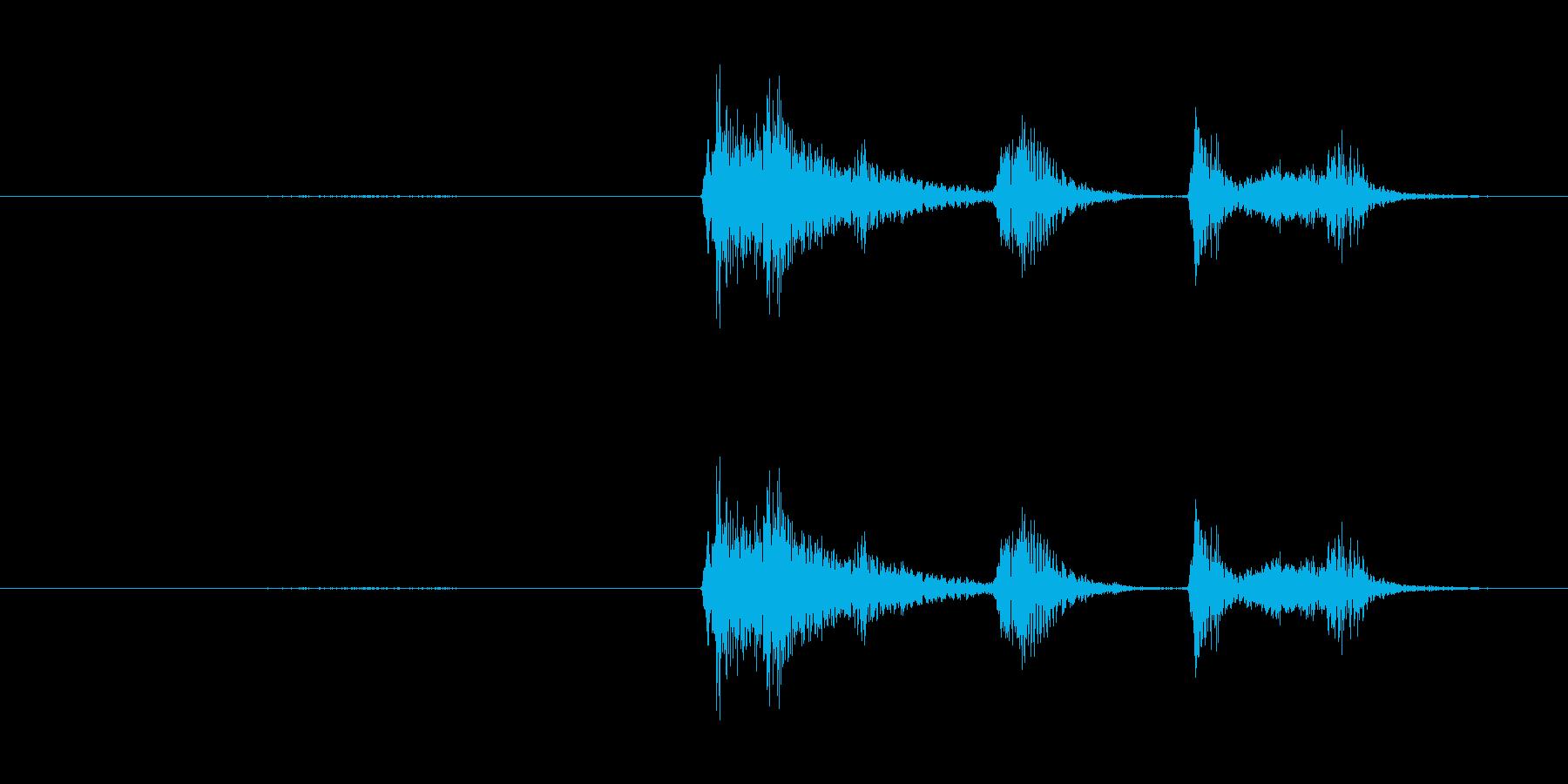 鳴き声 咳の女性01の再生済みの波形