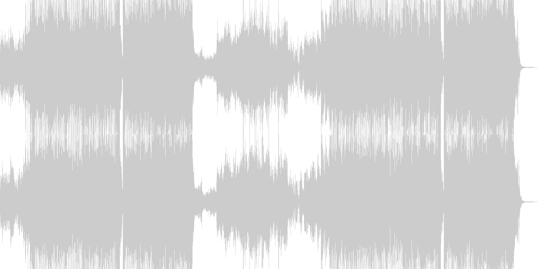 可愛い運動会テーマ・テクノポップ 短尺+の未再生の波形