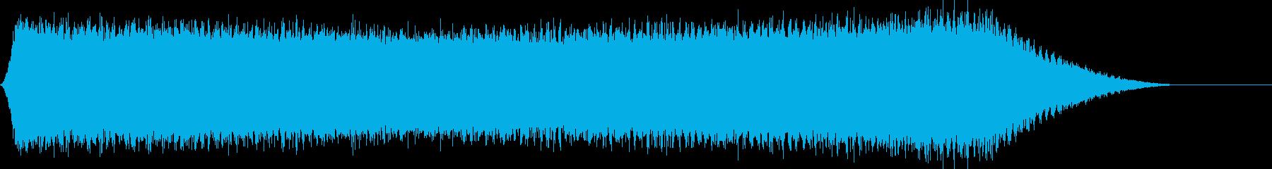 真夏のセミの音サンプリングの再生済みの波形