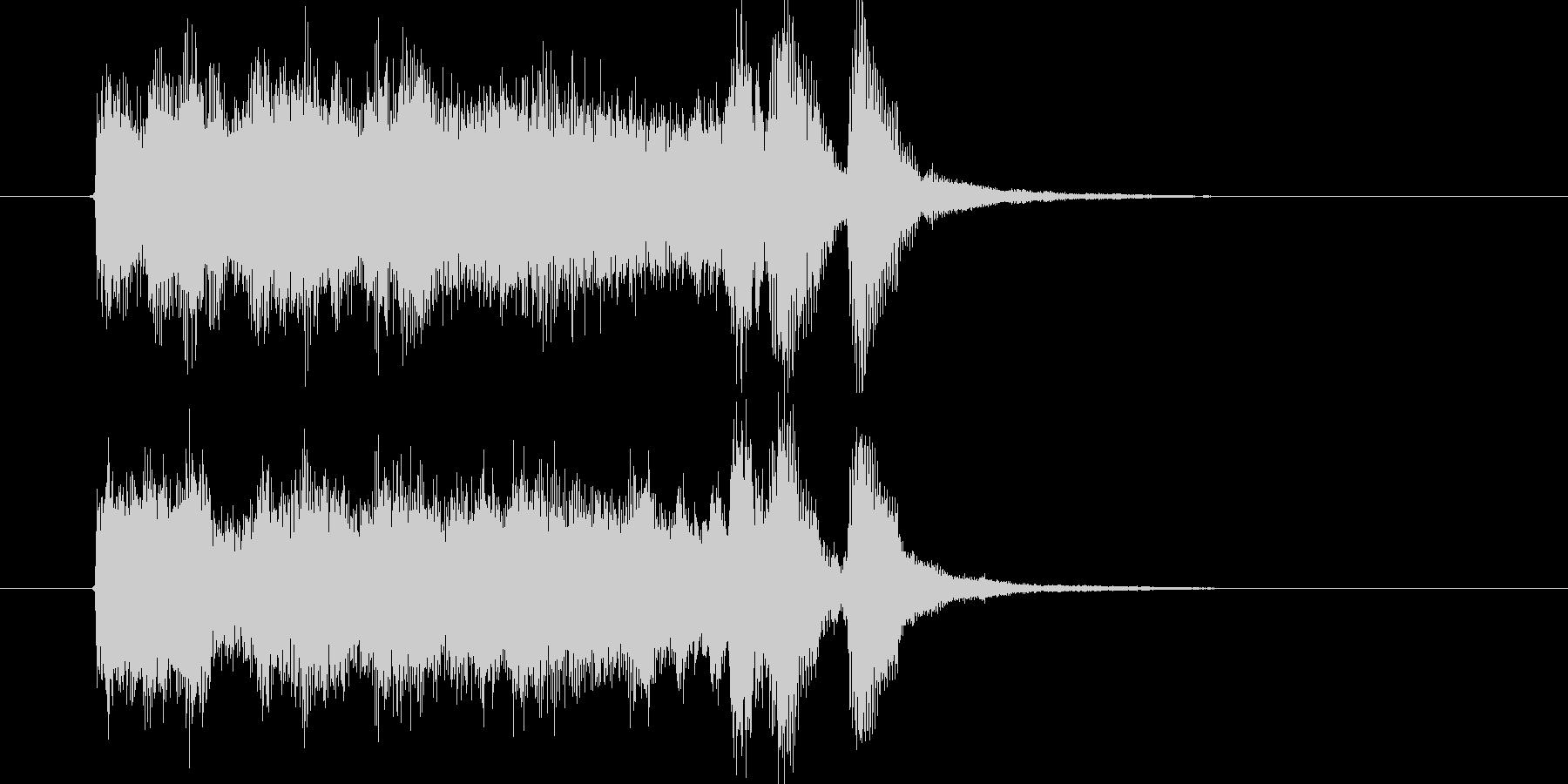 明るくワクワク感のシンセサウンド短めの未再生の波形