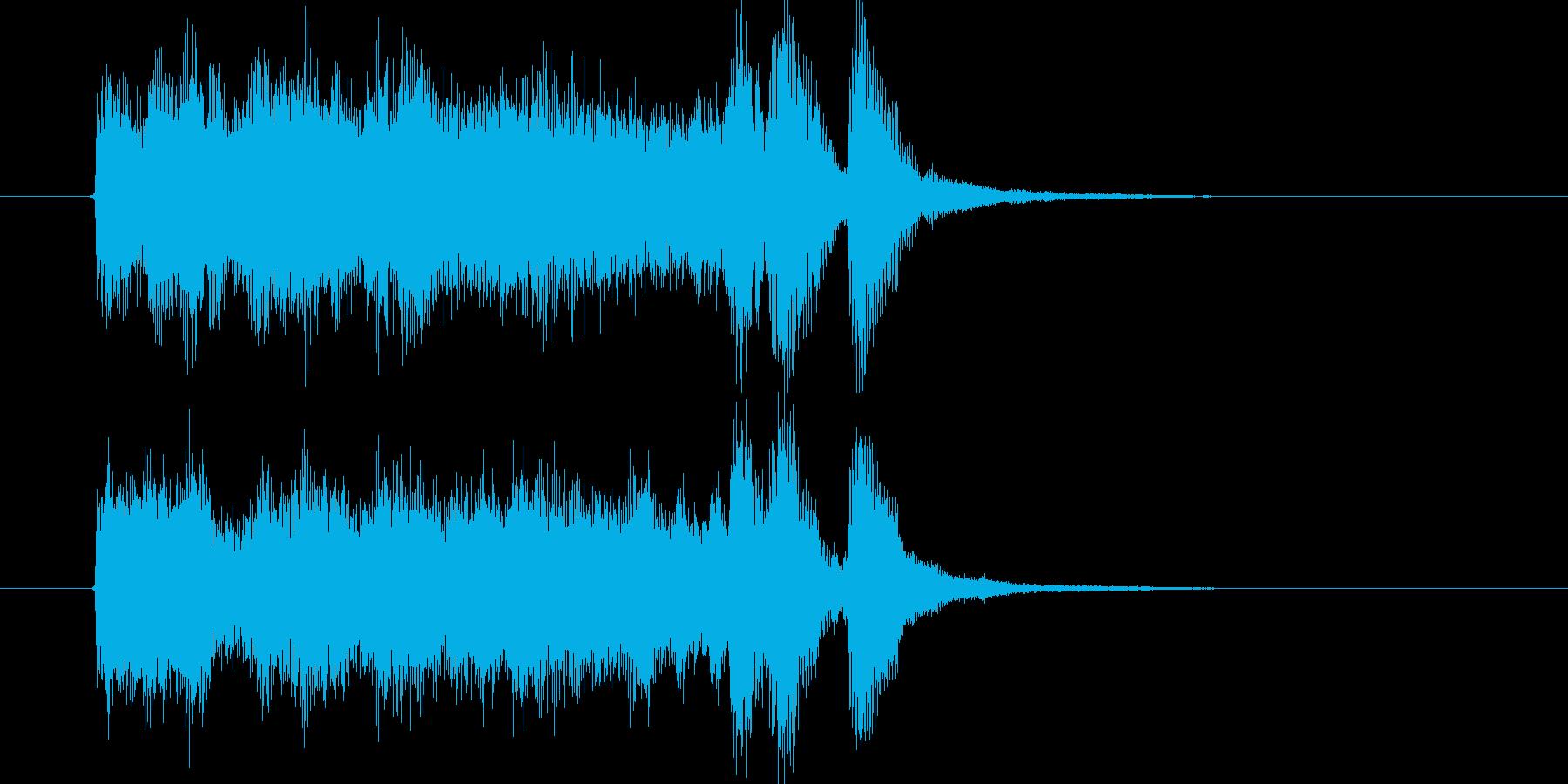 明るくワクワク感のシンセサウンド短めの再生済みの波形