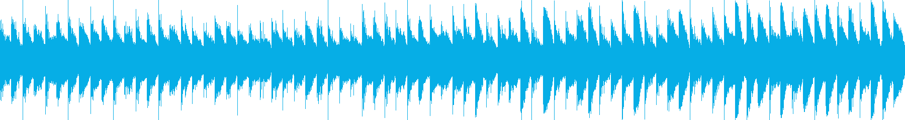 切ない雰囲気のセンチメンタルループの再生済みの波形