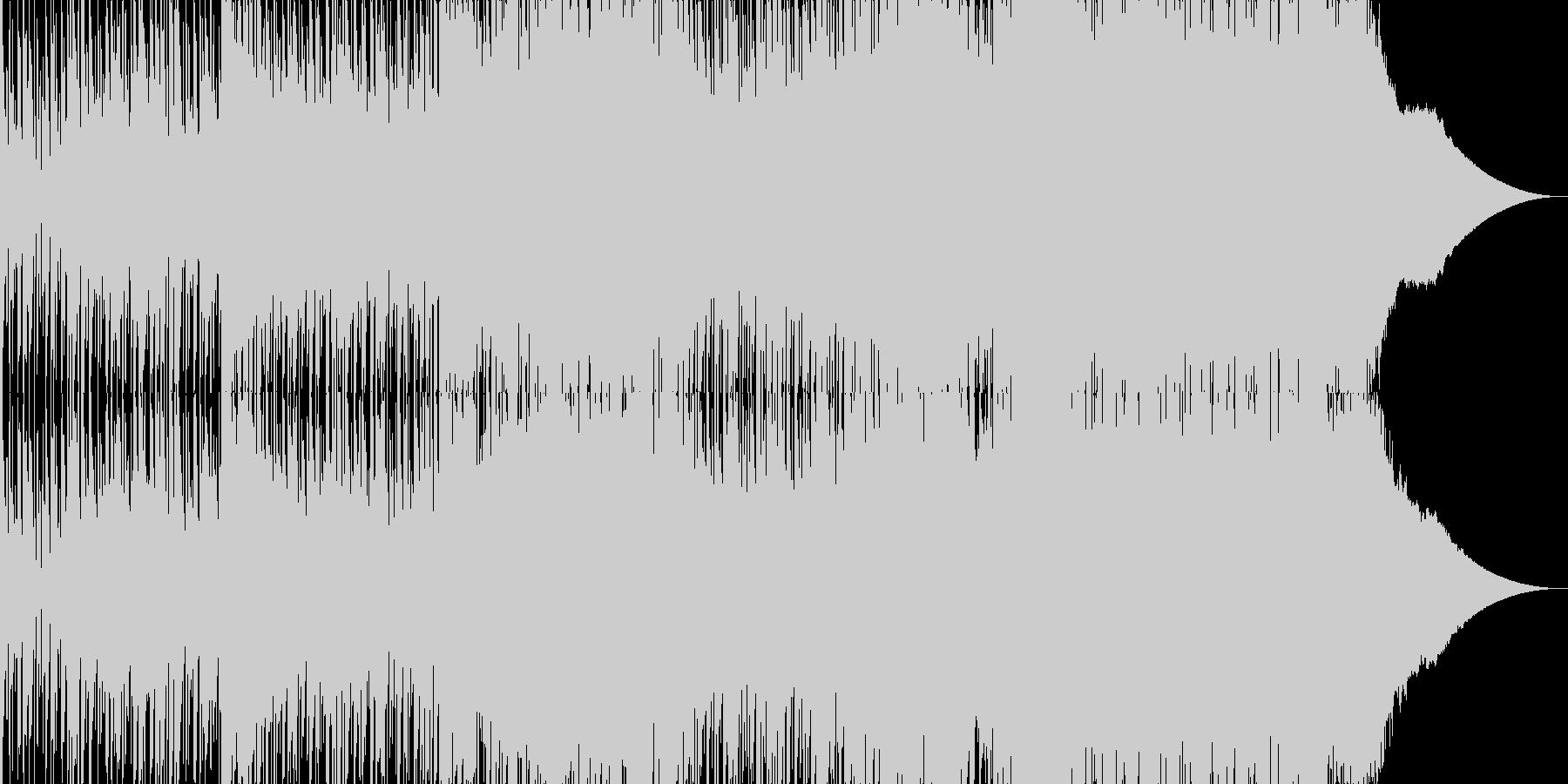 ドラムループのアンビエントなテクノの未再生の波形