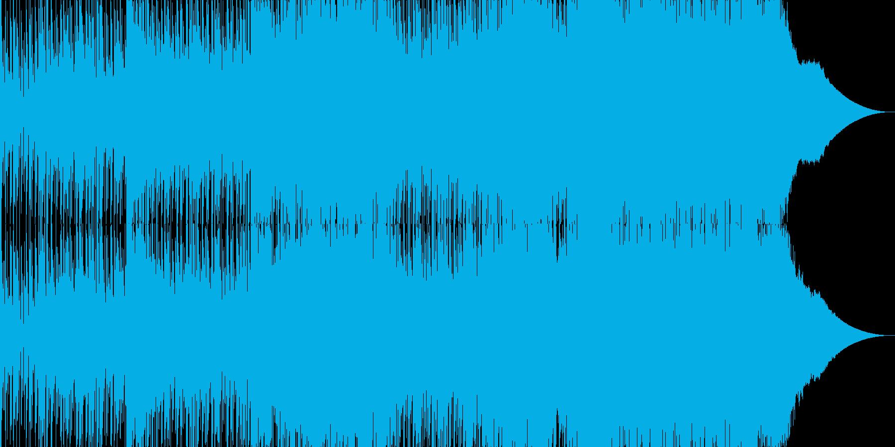ドラムループのアンビエントなテクノの再生済みの波形