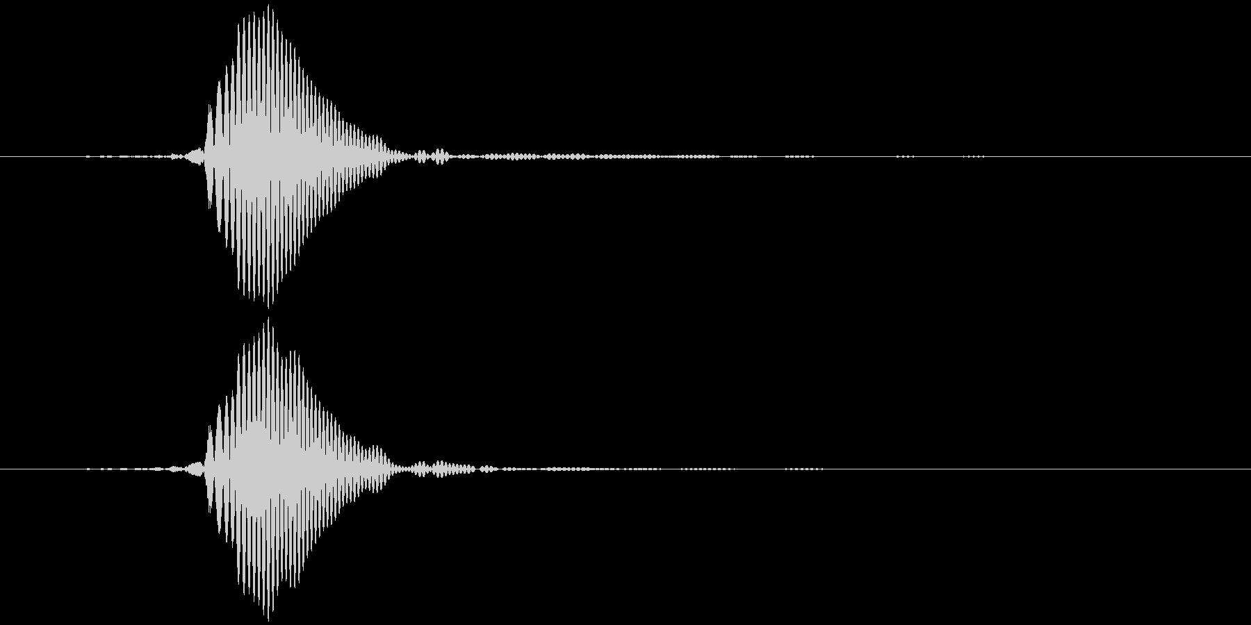 パッ (軽め) テロップ音など の未再生の波形