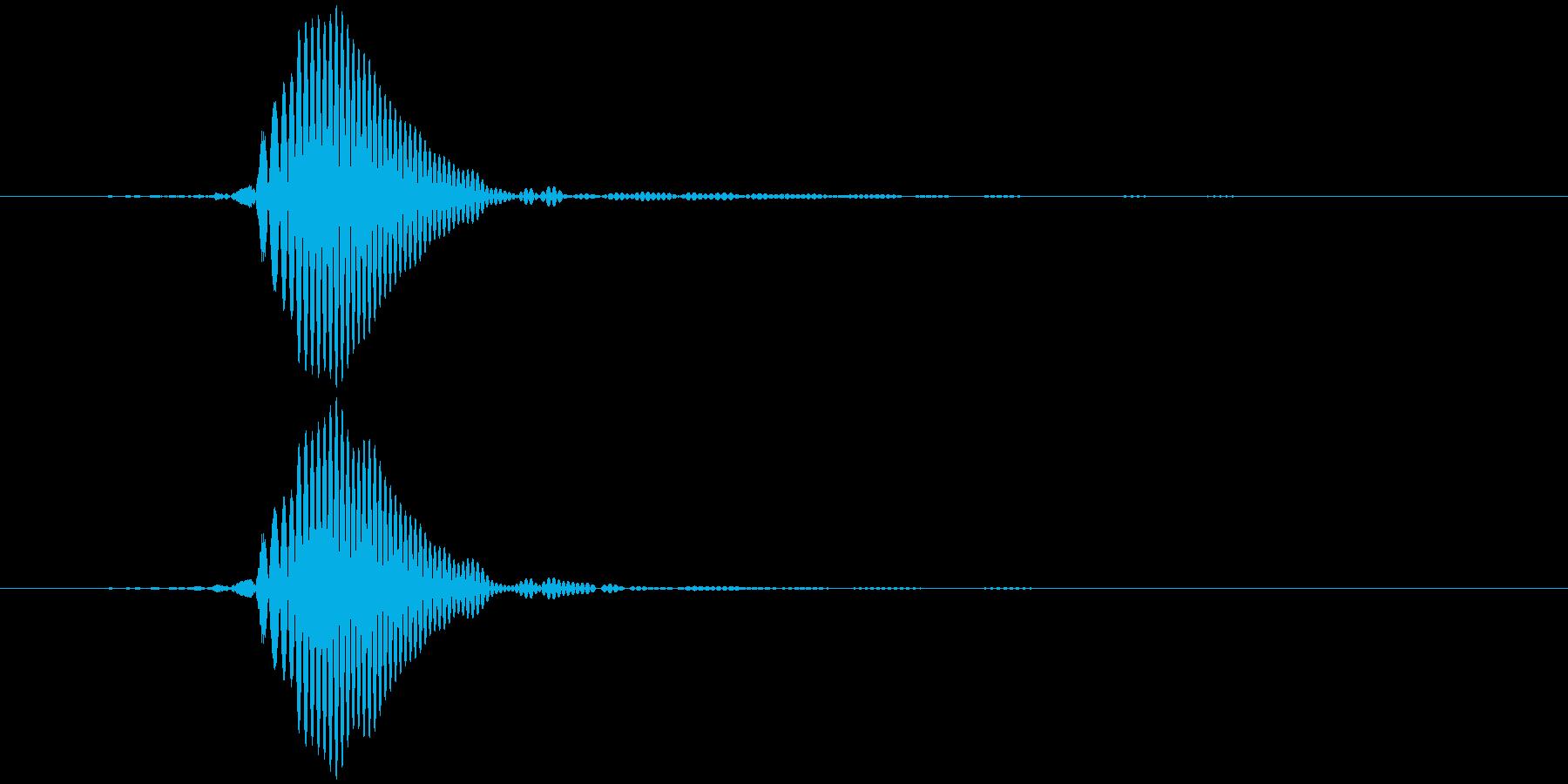 パッ (軽め) テロップ音など の再生済みの波形