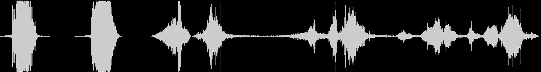 カースキッドファーストバイス各種の未再生の波形