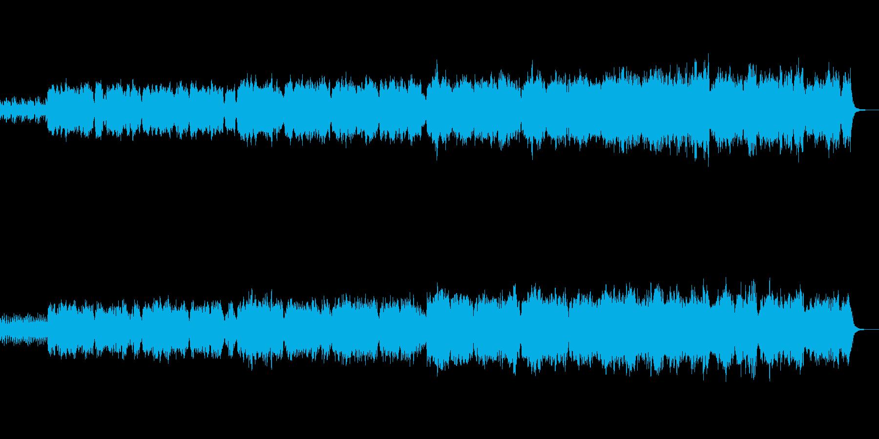 フルートとハープシコードの幻想曲の再生済みの波形