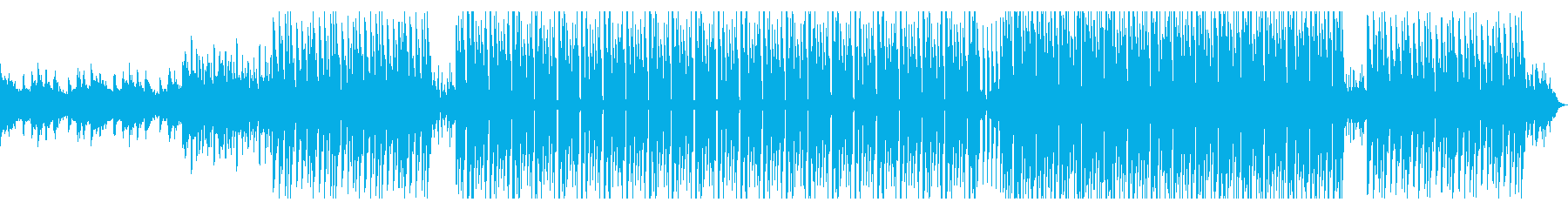 音数少なめのお洒落なディープハウスの再生済みの波形