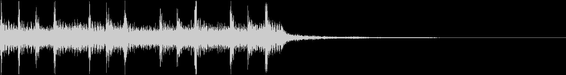場面転換ロックバンドジングル2の未再生の波形