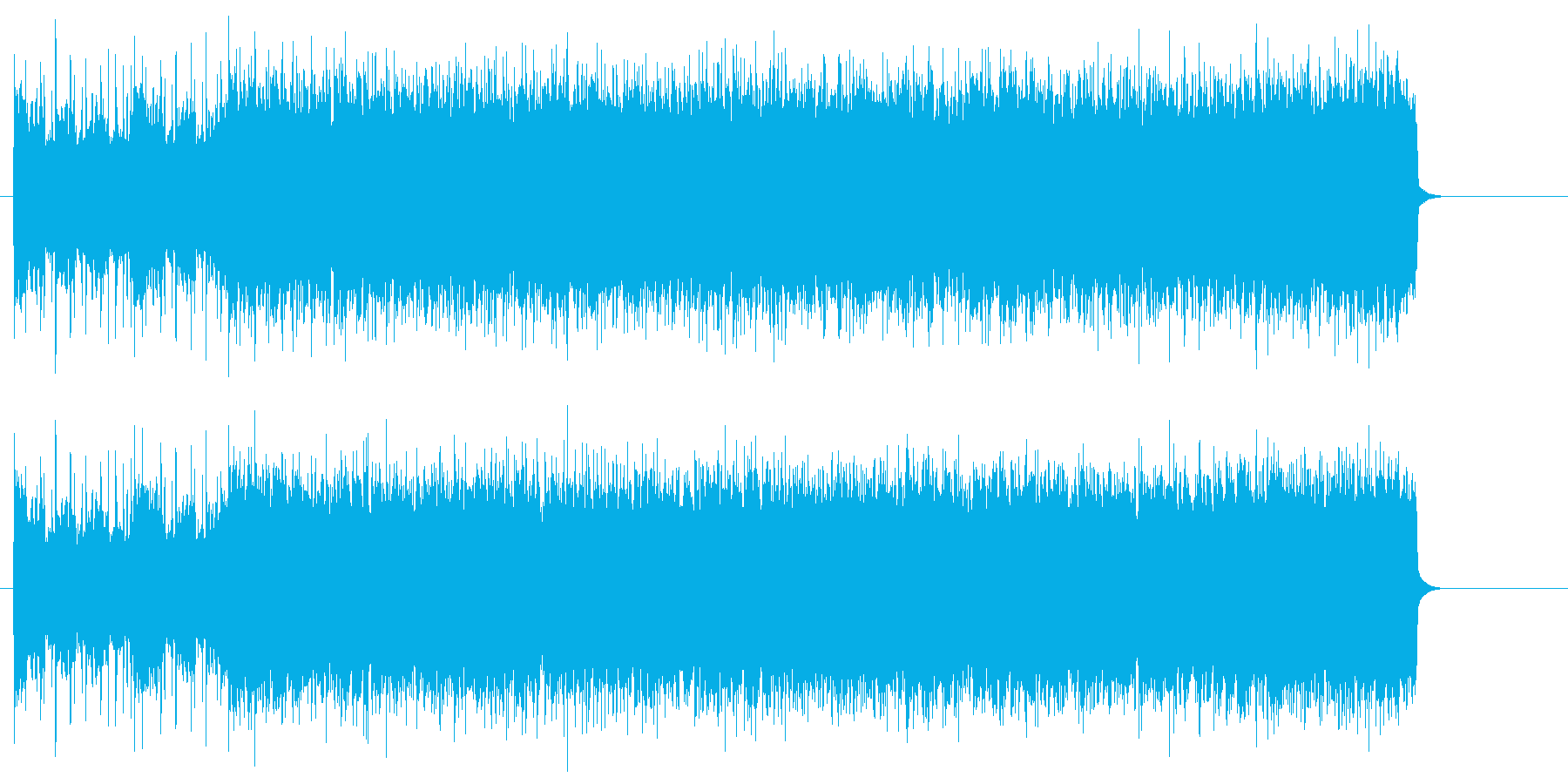 疾走感のあるハードロック(イントロ~A)の再生済みの波形