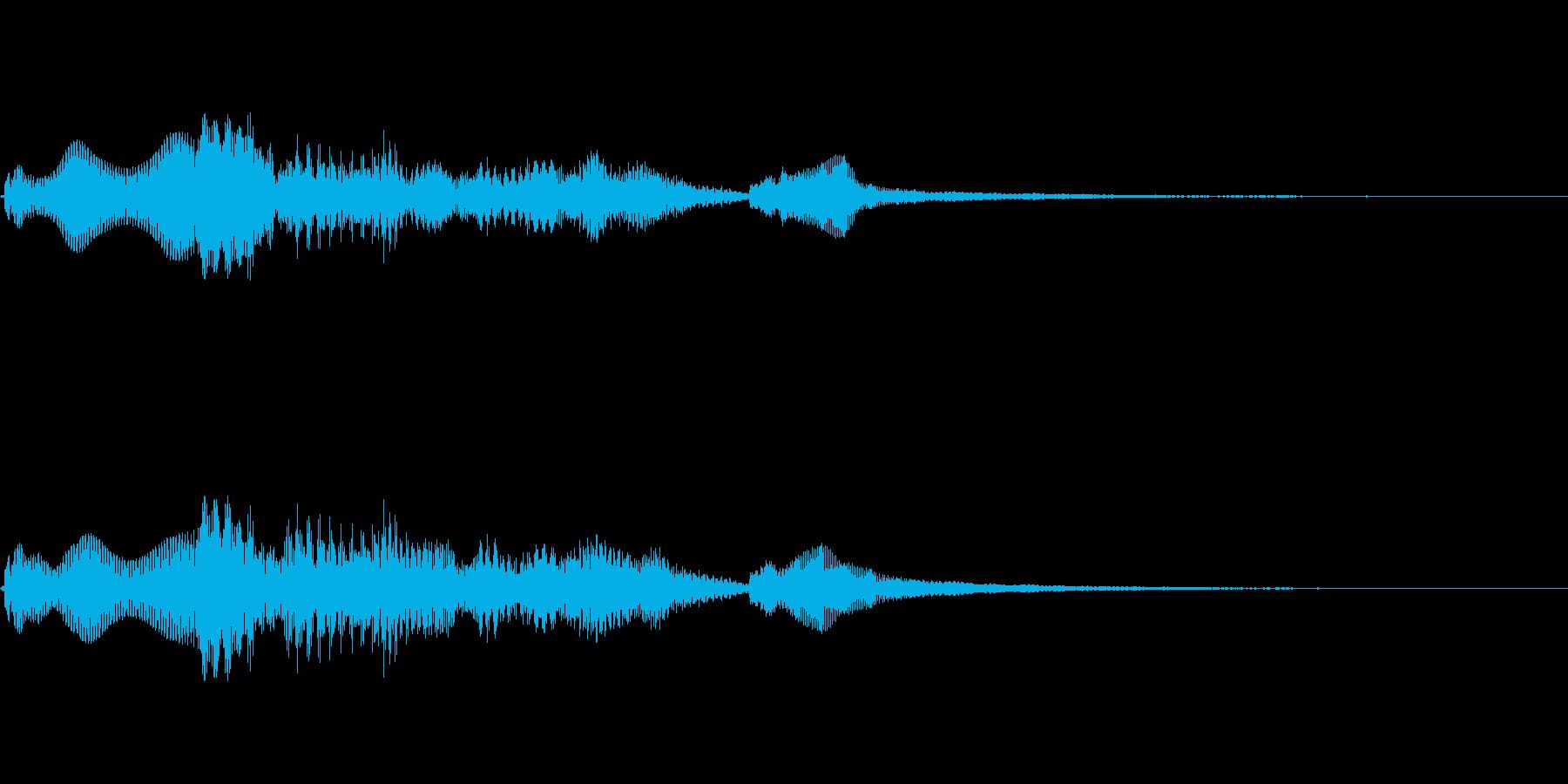 [効果音]ほのぼの、着信音の再生済みの波形