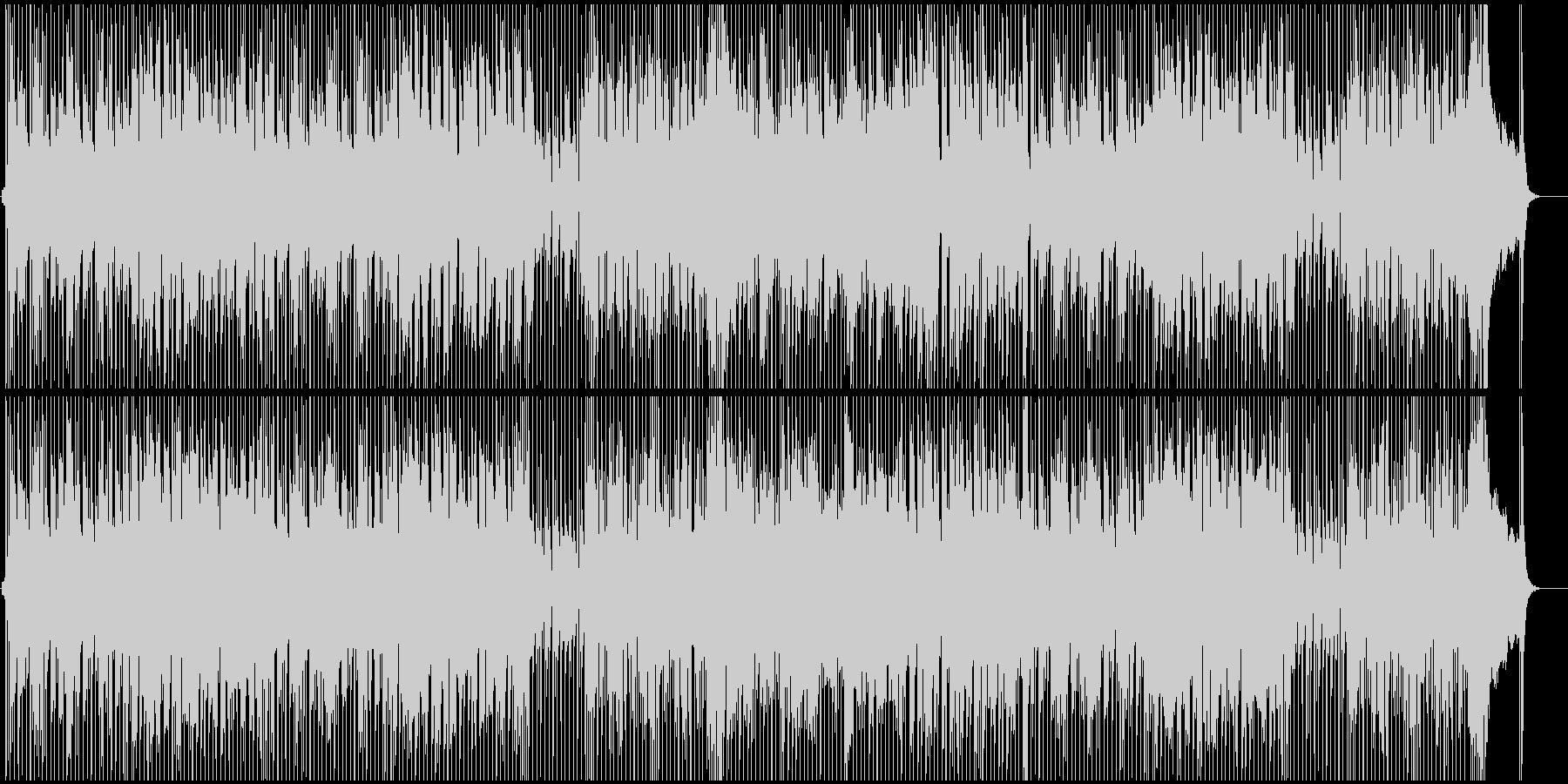 リズミカルなギターが印象的なBGMの未再生の波形