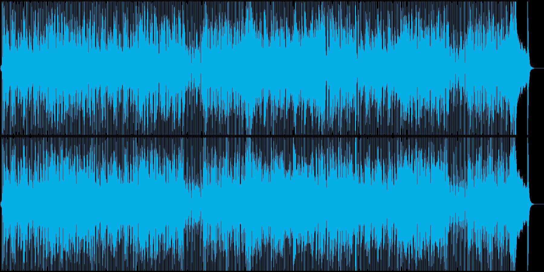 リズミカルなギターが印象的なBGMの再生済みの波形