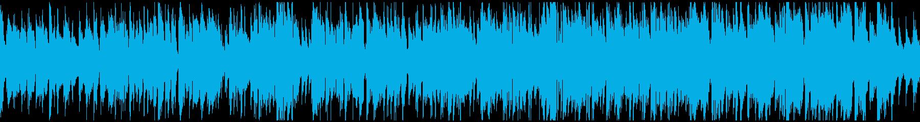 テンポ良い昼下がり散歩的ジャズ※ループ版の再生済みの波形