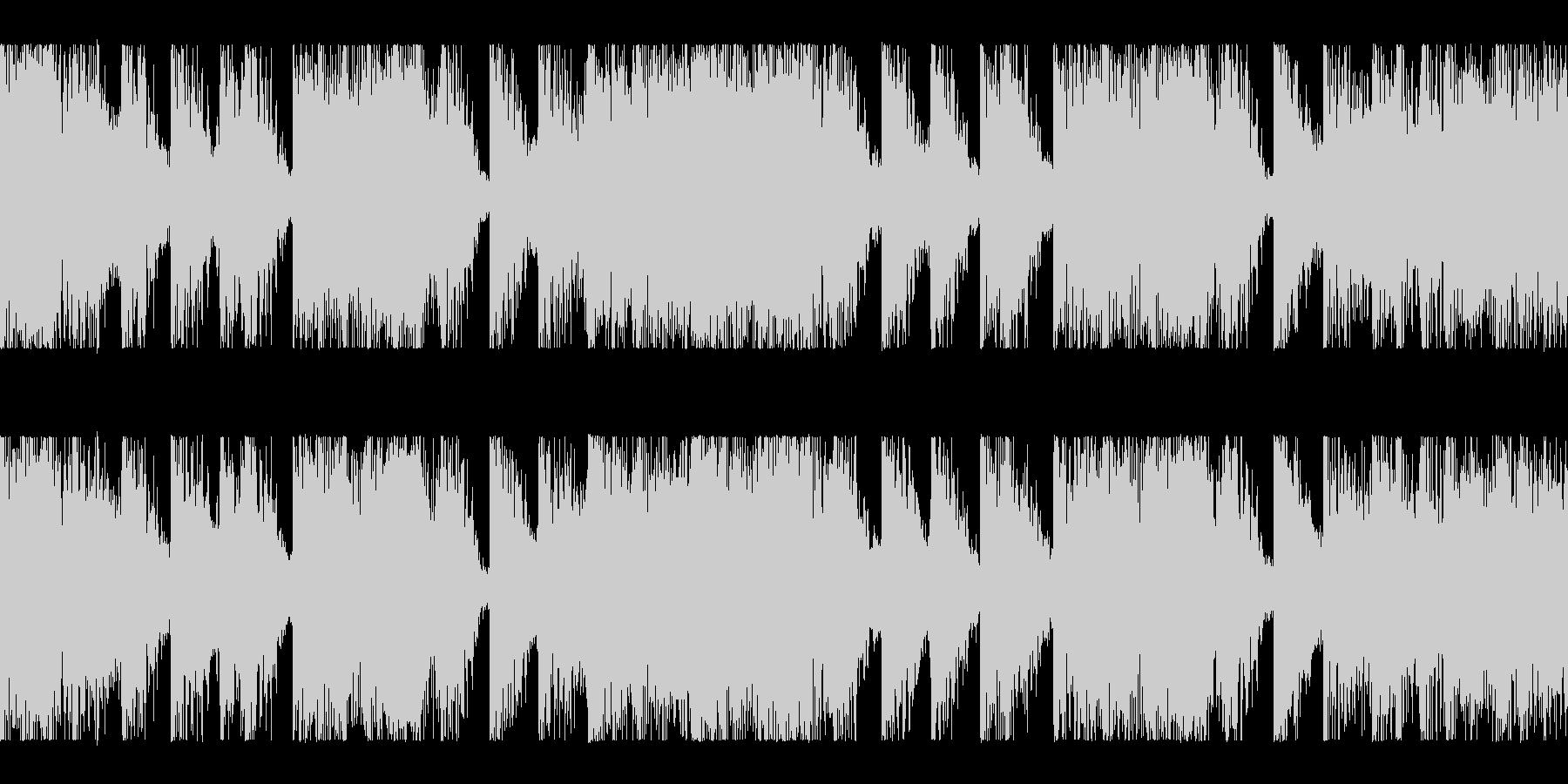 メタルコア風のヘヴィーLOOP BGMの未再生の波形